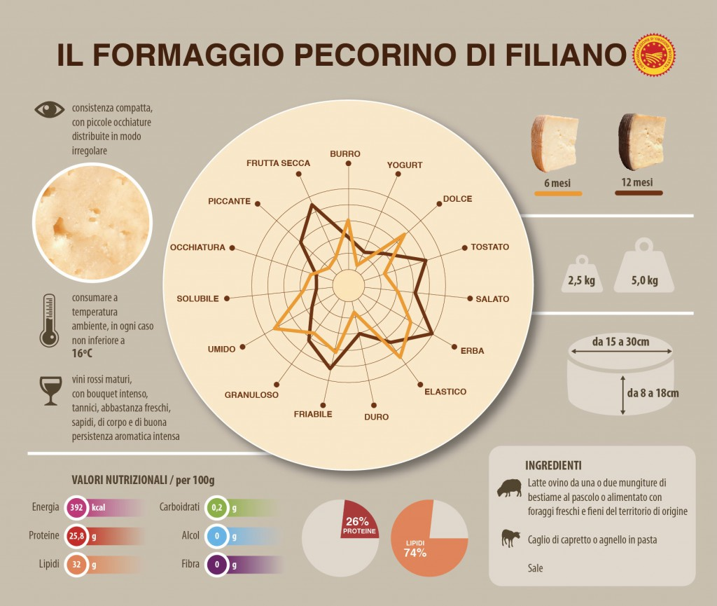 Analisi e caratteristiche del Pecorino di Filiano
