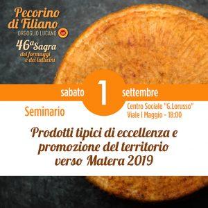 Seminario 46 Sagra del Pecorino di Filiano Sagra 2018